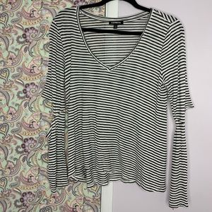 Express Light weight striped, elbow cut out top